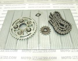 DUCATI MONSTER S2R 800 2005 TRANSMISSION CHAIN - GEAR CHAIN FRONT, REAR SET 800 KM