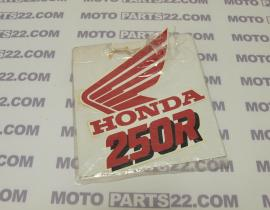 HONDA CRM 250 R K '89 STRIPE STICKER LEFT SIDE RADIATOR COVER 87126-KAG-300ZA