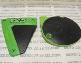 KAWASAKI KX 125  LEFT COVER & AIR FILTER BIX COVER 14025-1192