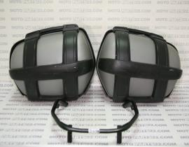 BMW F 800 S K71 SET COMPLETE SPORTS CASE LEFT RIGHT & HOLDER 71 60 7 722 363    71 60 7 722 364     71 60 7 693 915