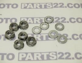 YAMAHA FZ 6 N FAZER 600 04 06 5VX REAR HUB NUT SELF LOCKING & WASER PLATE SET COMPLETE   901851000900  902010002100