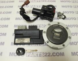 HONDA CB 600 HORNET 08   MFJ   SET COMPLETE CDI UNIT CENTER LOCK SWITCH FUEL TANK CAP SEAT LOCK    38770-MFJ-DO4 KEIHIN