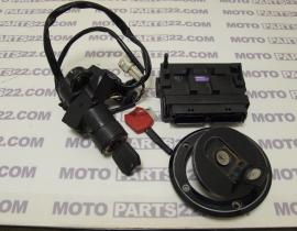 KAWASAKI Z 750 08 CDI UNIT IMMOBILIZER RECEIVER CENTER SWITCH WITH KEY & FUEL TANK CAP CDI DENSO 21175-0053